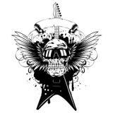 Wings guitar skull_var 1 vector illustration