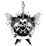 Wings guitar skull var 9 stock illustration