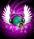 Wings and headphone Royalty Free Stock Images