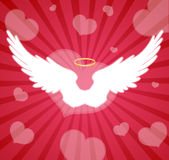 Wings and heart Stock Photo