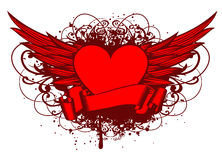 Wings and heart Royalty Free Stock Photo