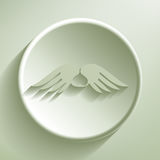 Wings with heart Stock Images