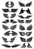 Wings heraldic icons symbols Stock Photo