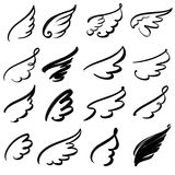 Wings icon sketch collection cartoon hand drawn vector illustration sketch Royalty Free Stock Photography
