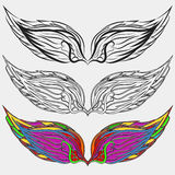 Wings  icons set bird illustration eps 10 Royalty Free Stock Image