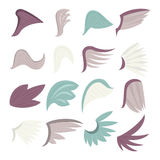 Wings icons set, cartoon style Stock Images