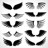 Wings icons set isolated on white background Royalty Free Stock Photos