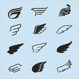 Wings icons set 2. Wings icons vector set. Wings. Set of design elements Stock Photography