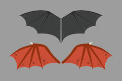 Wings isolated bat black animalwildlife fly halloween mammal vampire flight and natural hawk life peace design element Royalty Free Stock Photo