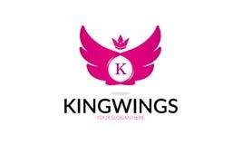 Wings Logo国王 免版税图库摄影