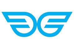 Wings logo dsign vector. Abstrac logo dsign vector abstract concept Stock Photography