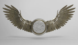 Wings and Medallion stock image