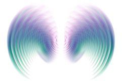 Wings In Motion Blur - Blue Stock Photos