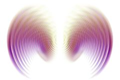 Wings In Motion Blur - Purple Royalty Free Stock Photography