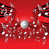 On the wings of music. Illustration. Look for more illustrations in my portfolio Royalty Free Stock Photo