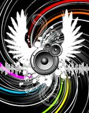 Wings of music Royalty Free Stock Photos