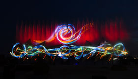 Free Wings Of Time Show In Singapore Stock Photography - 45155192