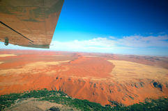 Wings over the Namib. Flight over the Kuiseb Canyon which is adjoining to the great Namib Desert (Namibia royalty free stock photo
