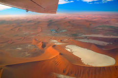 Wings over the Namib. Flight over the Kuiseb Canyon which is adjoining to the great Namib Desert (Namibia royalty free stock photography