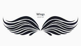 Wings pattern on a light background Royalty Free Stock Photos