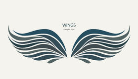 Wings pattern on a light background Royalty Free Stock Photography