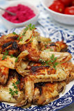 Wings on a plate Royalty Free Stock Photography
