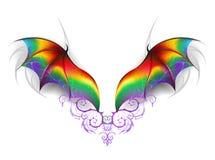 Wings of rainbow dragon Royalty Free Stock Photos