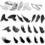 Wings set Stock Images