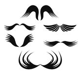 Wings set. Vector wings design set on white Royalty Free Stock Photography