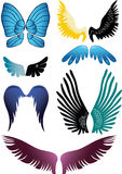 Wings' Set. Many-Coloured Wings' Set against the Light Background Vector Illustration