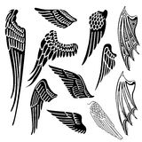 Wings set Stock Photography