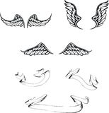 Wings set pack. Wings set in format very easy to edit stock illustration