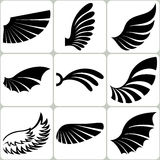 Wings Set, Vector Design Elements Royalty Free Stock Photo