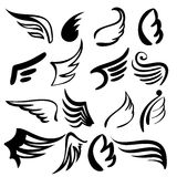 Wings  set   vector  illustration Stock Image