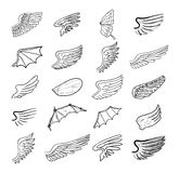 Wings set, vector illustrations Royalty Free Stock Photos