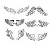 Wings set, vector illustrations Royalty Free Stock Photography