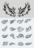 Wings Set. Wing set, art vector design Royalty Free Stock Photography