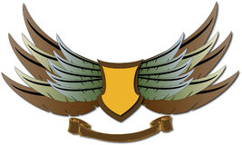Wings and shield Stock Photo