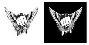 Wings and shield Royalty Free Stock Image