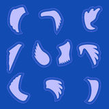 Wings  silhouette icon set.   Editable and design suitable  . Royalty Free Stock Images