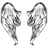 Wings sketch cartoon vector illustration Royalty Free Stock Photography