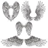 Wings Sketch Set Royalty Free Stock Images