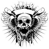 Wings skull_var 3 Royalty Free Stock Photography