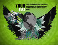 Wings of sound- green Stock Photo