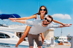 On the wings of summer love. Royalty Free Stock Photo