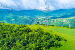The Wings of Tatev cable car Stock Image