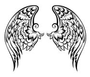 Wings.Tatoo design. Hand drawn vector wings tattoo design Royalty Free Stock Photography