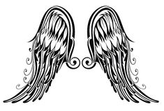 Wings tattoo Royalty Free Stock Photo