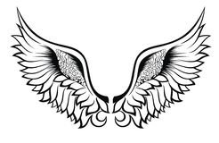 Wings. Tattoo design Stock Photography