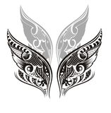 Wings. Tattoo design. Wings vector card illustration background Royalty Free Stock Photography